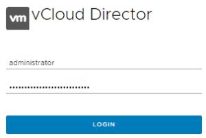 vCloud Director Login