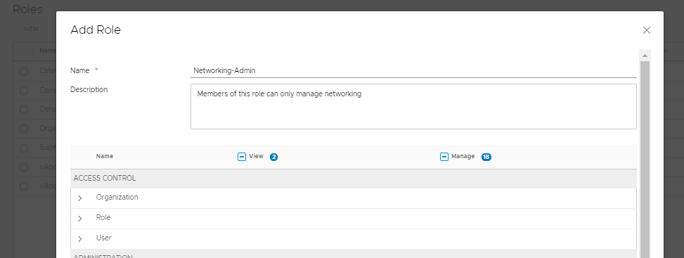 vCloud Director 9.7 - Adding a new role works