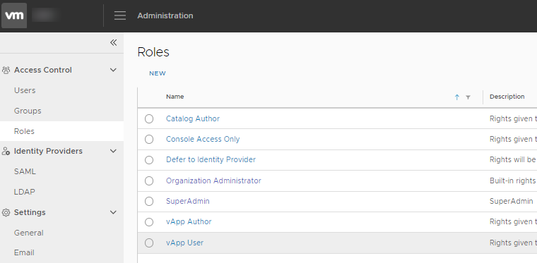 vCloud Director 9.7 – Issue with adding new roles