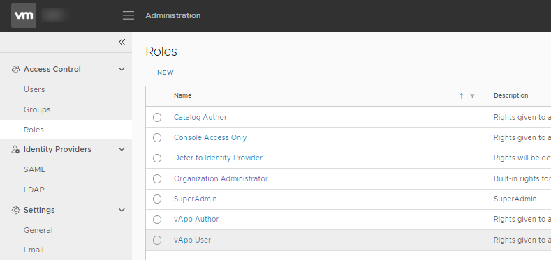 vCloud Director 9.7 – Issue with adding a new role