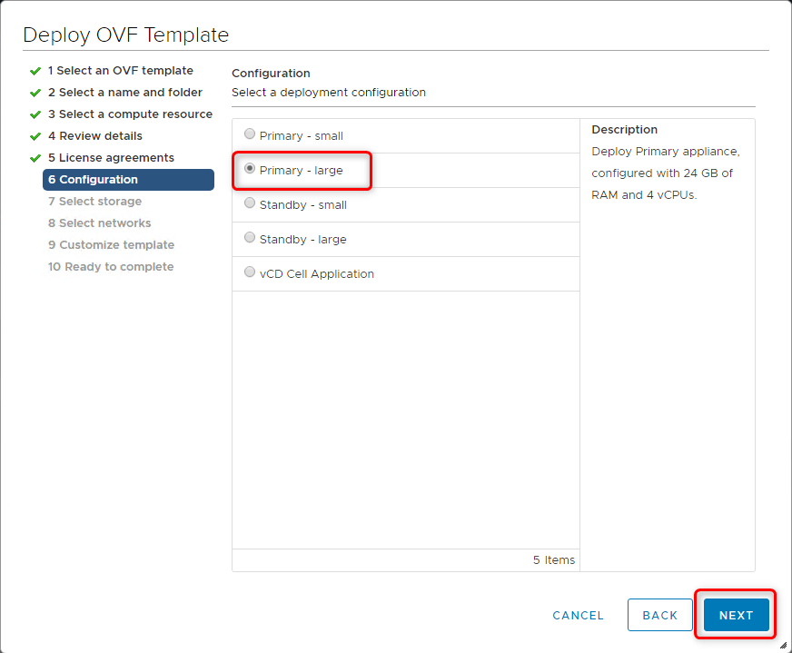 Deploy vCloud Director 9.7 - Configuration