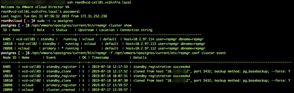 Check the PostgreSQL database