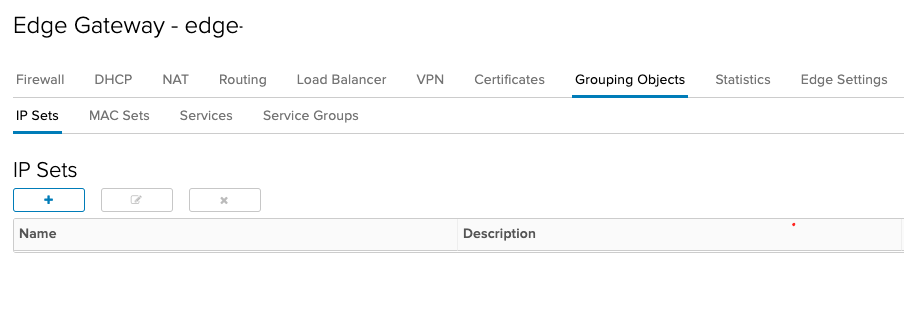 NSX Edge with vCloud director – Using aliases