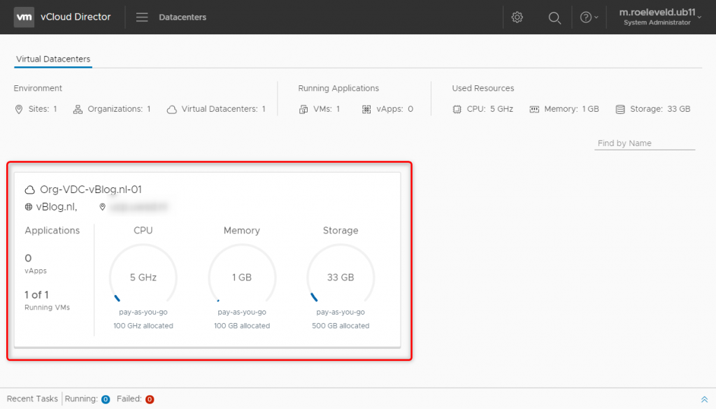 Open the Org VDC with the NSX Edge you want to configure for SSL VPN-Plus